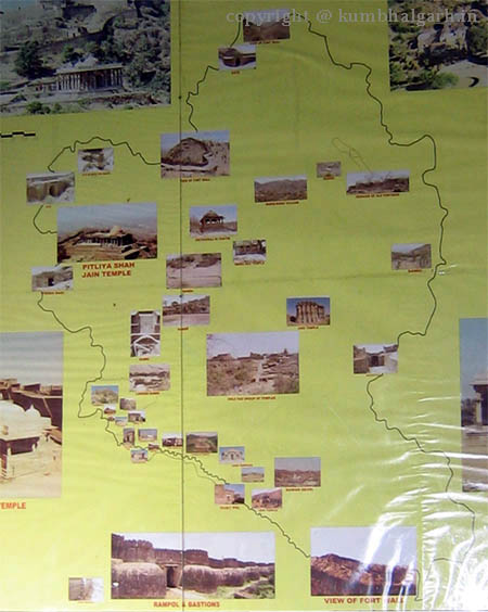 Kumbhalgarh Map - The Map of Kumbhalgarh Fort Mewar
