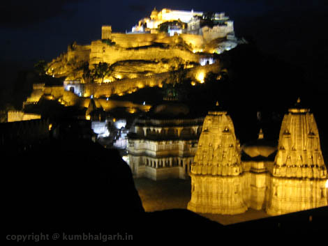 night view kumbhalgarh